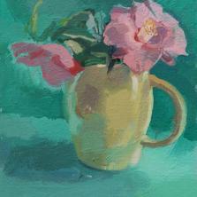 Camellia and Yellow Jug