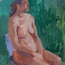 Figure with Green Background