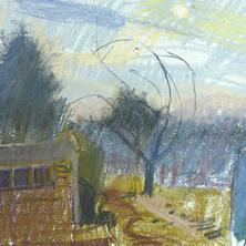 Wheelbarrow and Sun