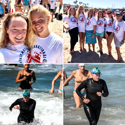 Fiona Duncan with Katia open water swim
