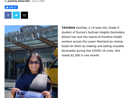 Voice Online recognised the good work being done by Tavisha