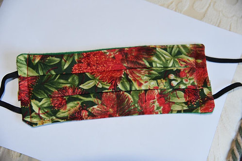 3-Ply Red Floral Print Mask