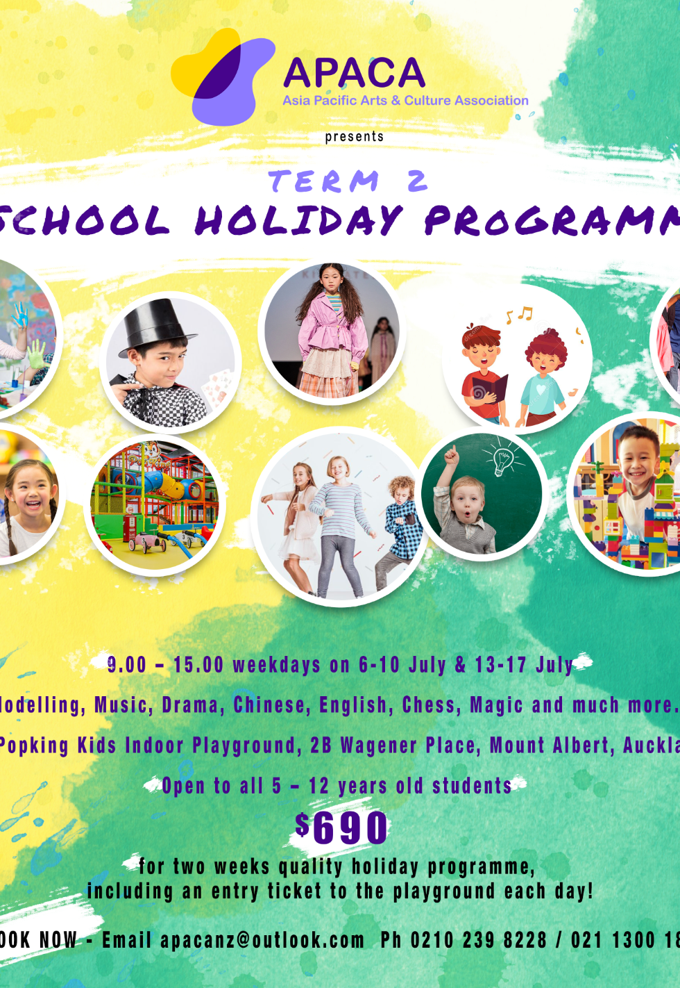 APACA Term 2 School Holiday Programme July 2020