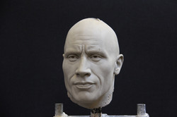 The Rock clay portrait