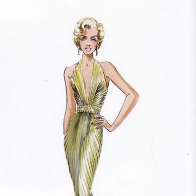 William Travillas gold lame gown for MM
