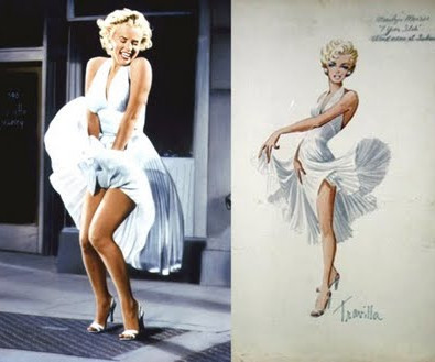 """Marilyns iconic """"The Seven Year Itch"""" white Travilla dress"""
