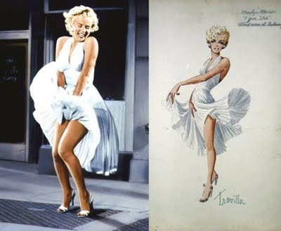 "Marilyns iconic ""The Seven Year Itch"" white Travilla dress"