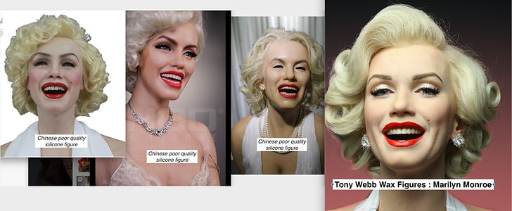 Tony Webb Wax Figures compared to Chinese silicone figures