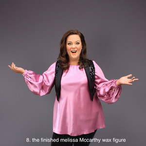 the finished wax figure of Melissa Mccarthy