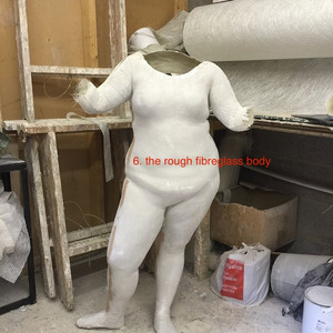the rough mannequin out of the mould