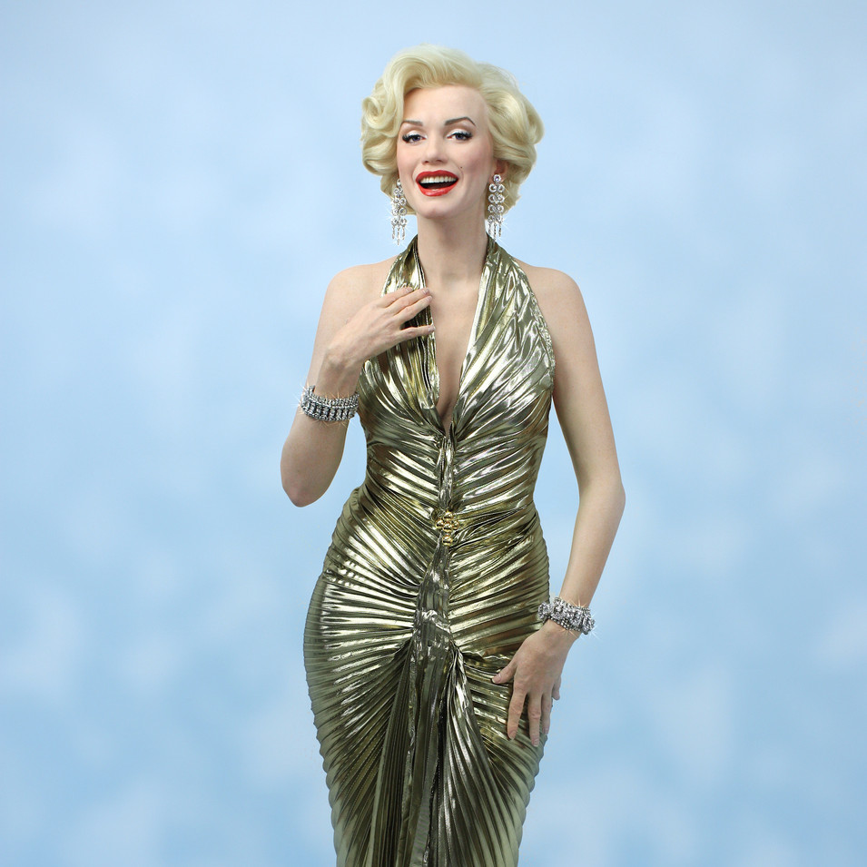 Marilyn in gold lame