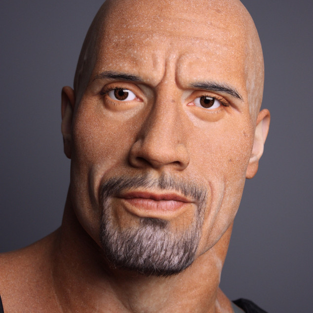The Rock finished wax figure