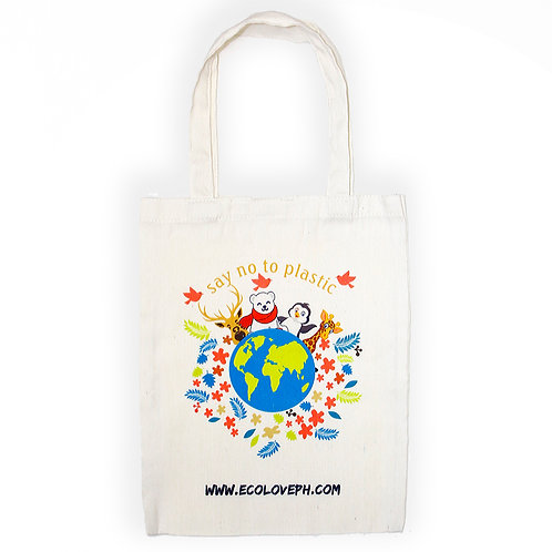 Cotton Tote Bag Say No To Plastic