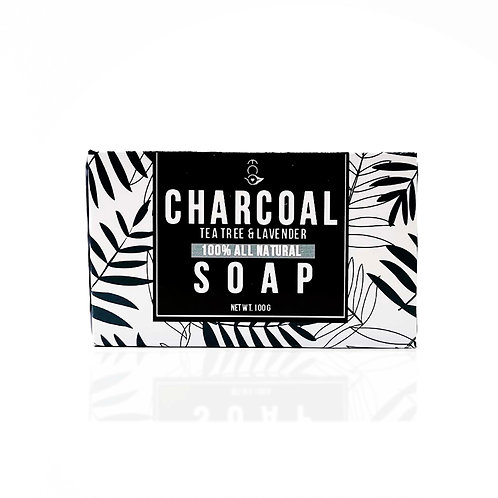 Charcoal Soap with Tea Tree & Lavender 110G