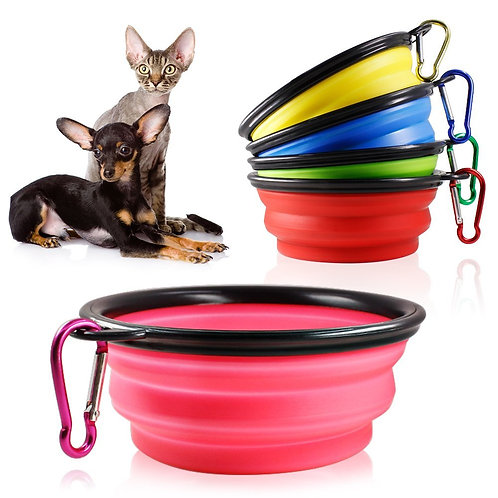 Silicone Collapsible Pet Water Bowl