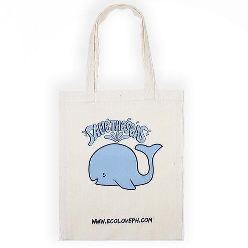 Cotton Tote Bag Save the Seas