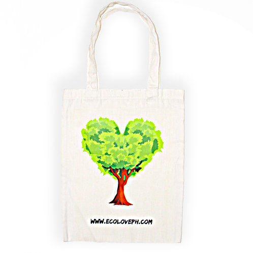 Cotton Tote Bag Eco Love Tree