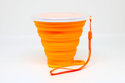 Silicone Collapsible Travel Cup Orange 270ML