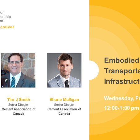 Feb 24 - Embodied Carbon in Transportation Infrastructure