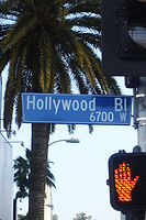Picture of Hollywood Boulevard street sign