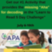 APA Lean to Read Promotion Post Saturday