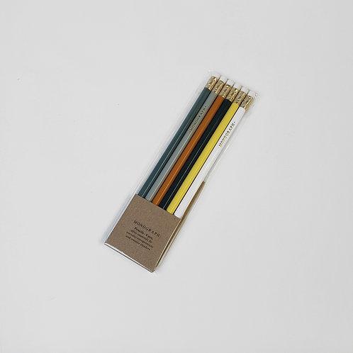 Bleistiftset mit Radiergummi - MONOGRAPH