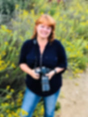 Enviromental portrait of Brandy Sebastianat the Buena Vista Lagoon in Oceanside California. Photogaph taken by Penny Kachuck