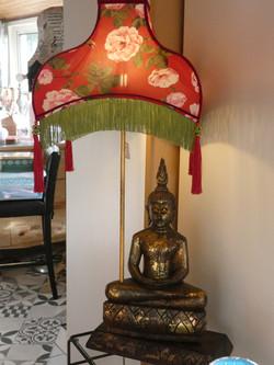 Statuette bois électrifiée