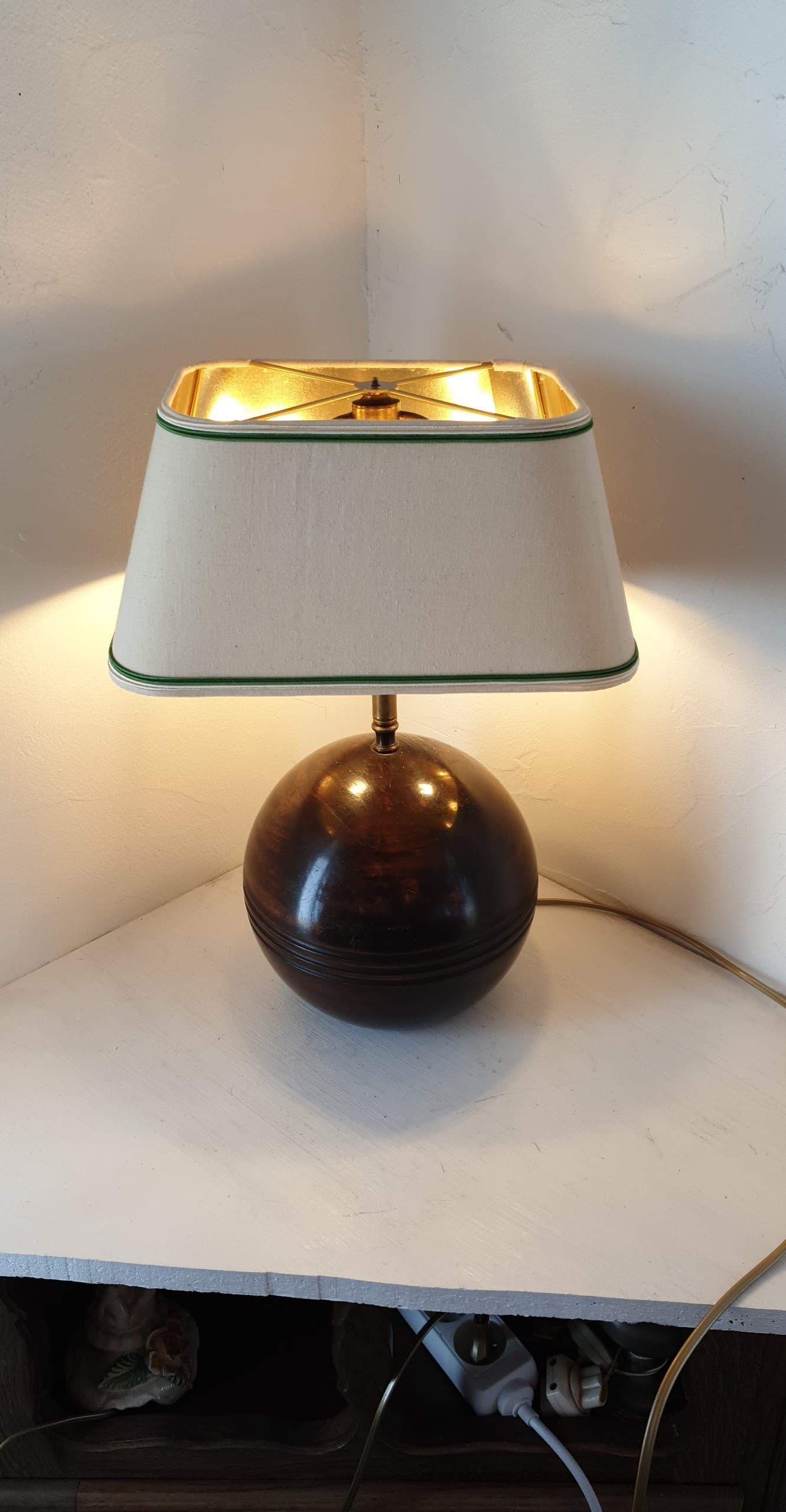 Electrification lampe ancienne à lyre