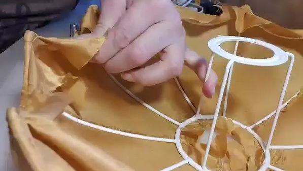 Dome citrouille en pongé de soie
