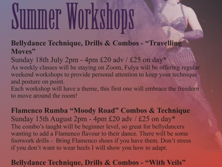 In Person Workshops with Fulya
