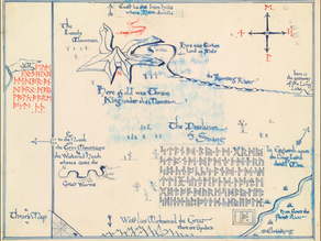 J.R.R. Tolkien's maps of Middle Earth.