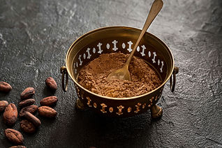 high-angle-of-bowl-with-cocoa-powder-and