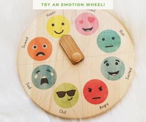 wood emotion wheel Mirus Toys