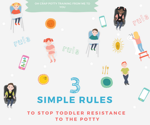 3 Simple Rules to Stop Toddler Resistance to the Potty