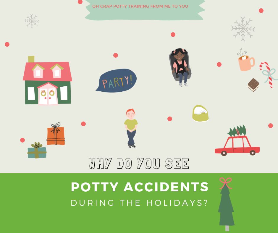 Why do you see potty accidents during the holidays?