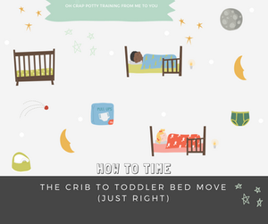 How to time the crib to toddler bed move just right