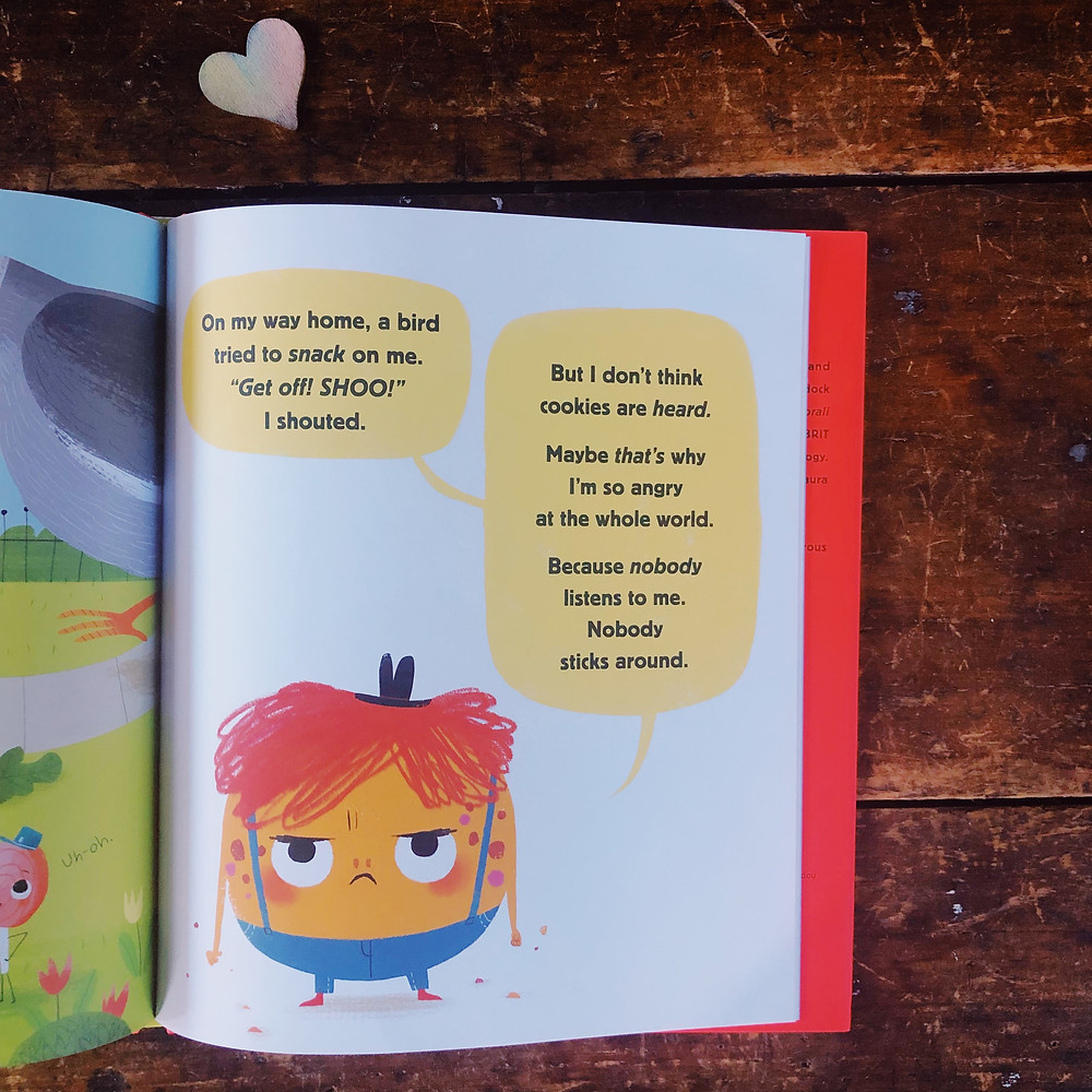 Angry Cookie book on feelings