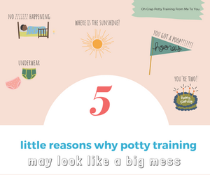 5 little reasons why potty training may be looking like a big mess