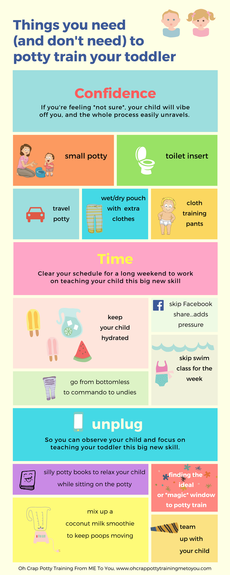 Things you need (and don't need) for potty training your child