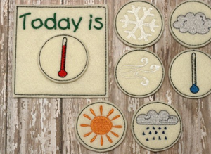 felt weather chart for toddlers
