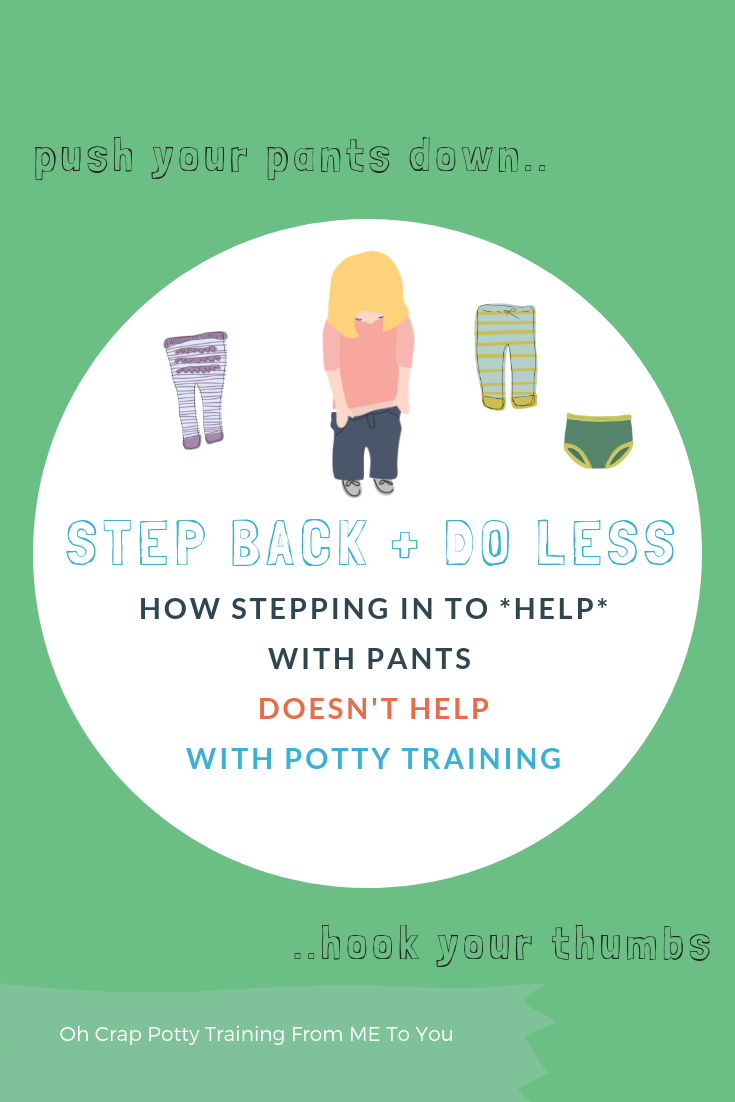 how to help your potty training toddler with pants