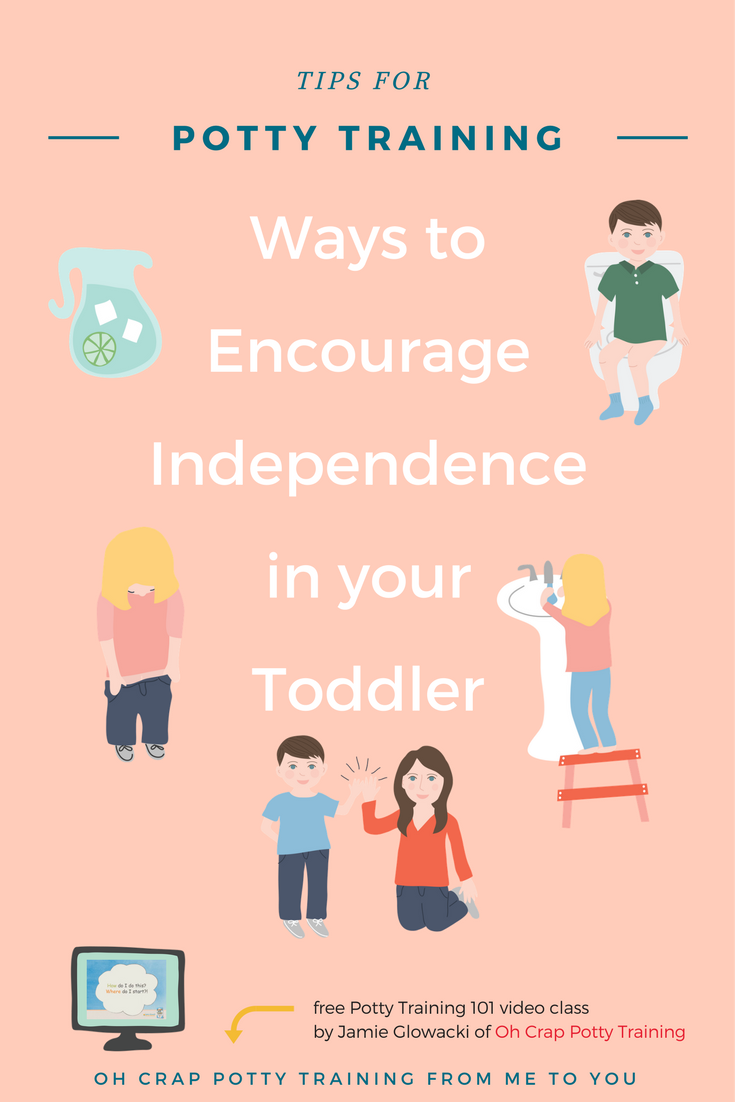 How to help toddlers be more independing on the toilet