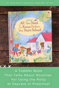 preschool book for normalizing potty training