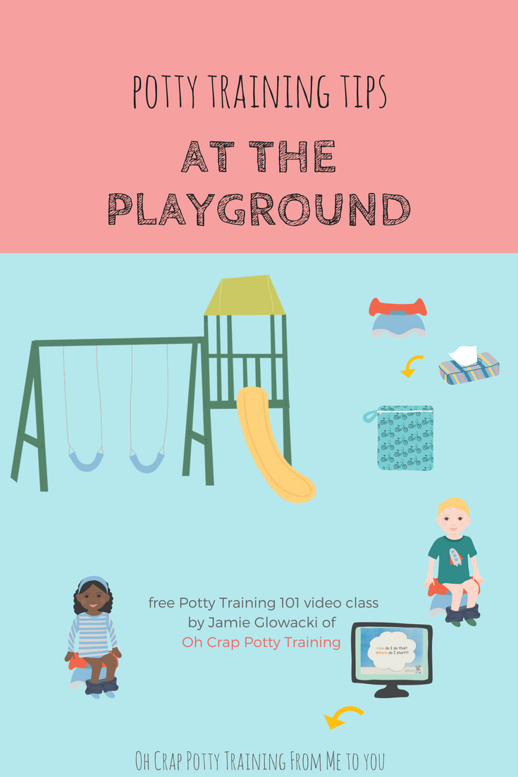 How to get outside to playground with potty training toddler