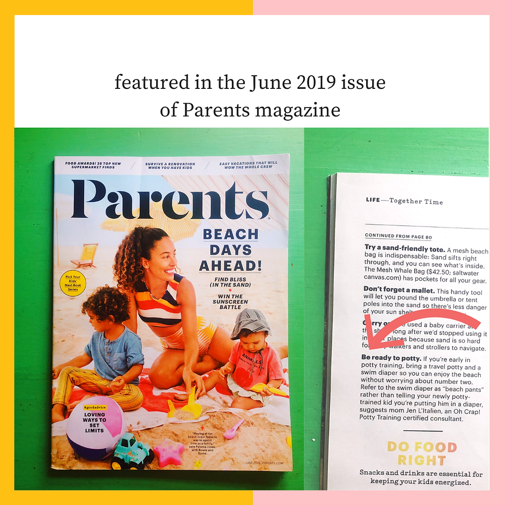 beach feature Parents magazine