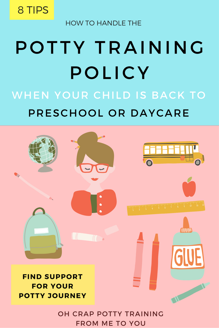 potty training policy at daycare or preschool