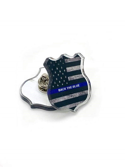 """""""Back the Blue"""" pin"""