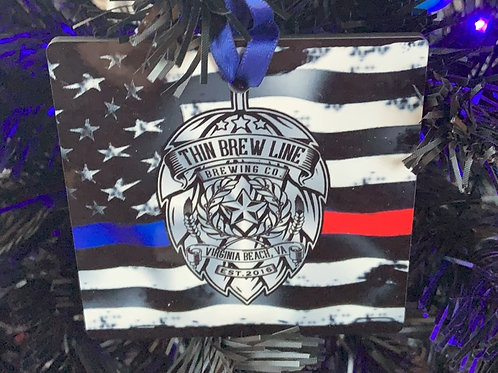 Thin Brew Line First Responders Flag Ornament