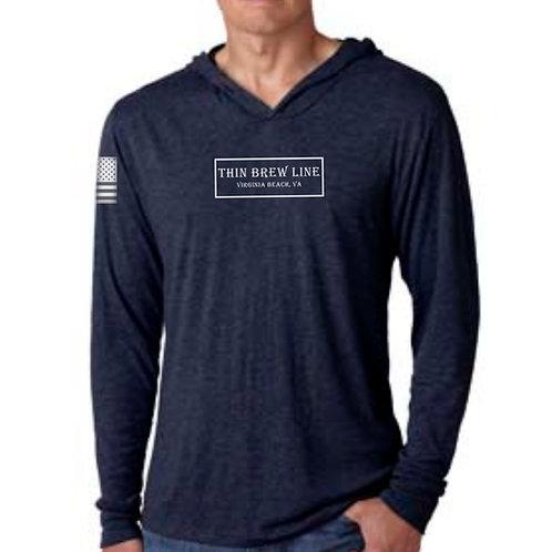 Next Level Triblend Long-Sleeve Shirt Hoodie